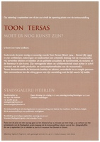 Art Project - Toon Tersas - 'Moet er nog kunst zijn' | 1 September - 11 November 2001 (flyer p2)