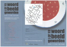 Art Project 'En het woord is beeld geworden' | 31 March - 17 June 2007 (flyer p1)