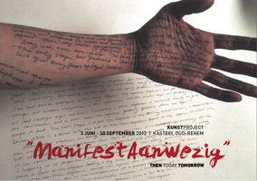 Kunstproject 'ManifestAanwezig' | 3 juni - 30 september 2012 (artwork: Ni Haifeng)
