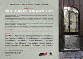 Kunstproject 'Here is always somewhere else' | 28 juli - 29 september 2013